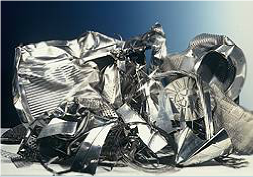 Pile of recycled stainless steel