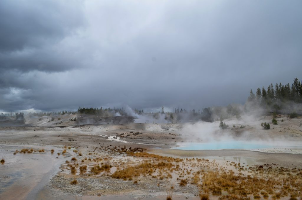 Example of geothermal water