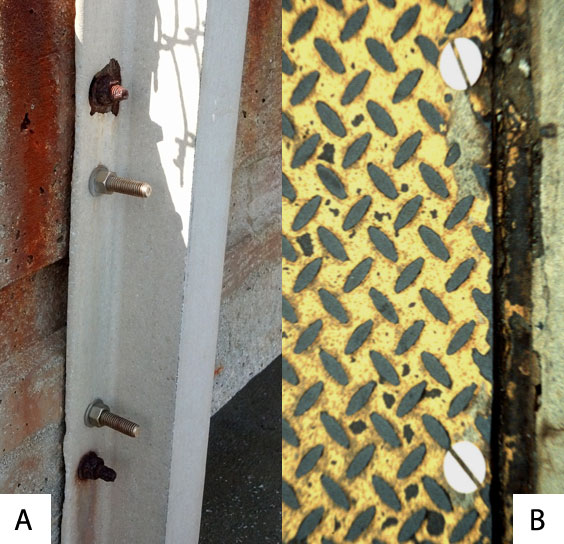 Examples of good and bad galvanic corrosion ratios