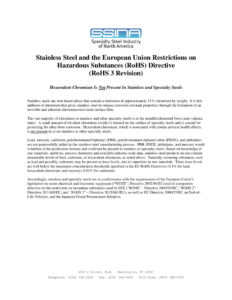 SSINA - EU RoHS statement (2019)